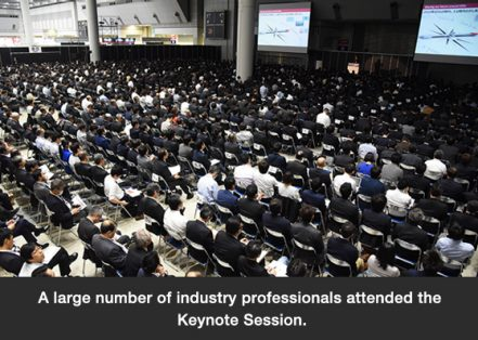 A large number of industry professionals attended the Keynote Session.